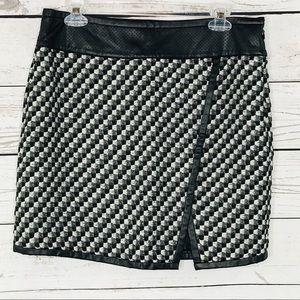 Ann Taylor Skirt Pencil Lined Geometric Side Zip